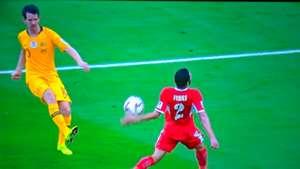 Socceroos handball