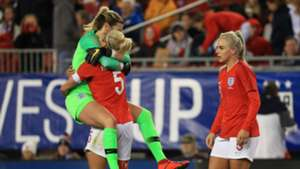 Steph Houghton Carly Telford England Japan SheBelieves Cup 2019