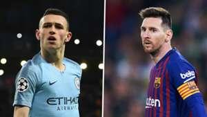 Phil Foden, Lionel Messi