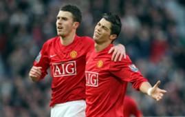 Michael Carrick Cristiano Ronaldo Manchester United