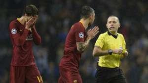 Roma referee vs Porto 2018-19