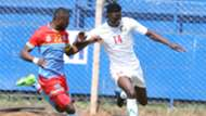Kenya striker Michael Olunga v DRC Congo.