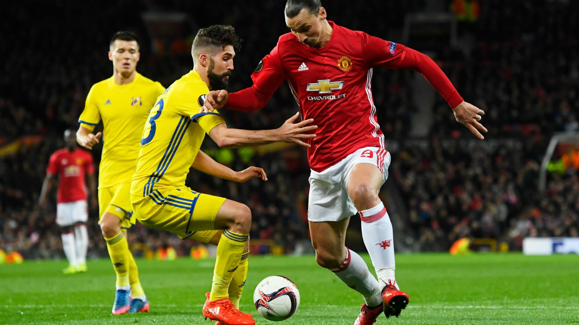 Zlatan Ibrahimovic Manchester United Rostov Europa League 16032017