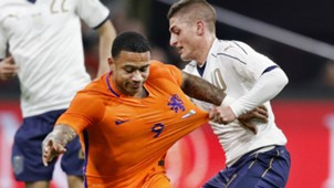 Memphis Depay Marco Verratti Netherlands Italy 03282017