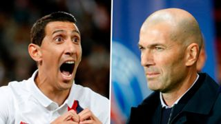 Angel Di Maria Zinedine Zidane PSG Real Madrid