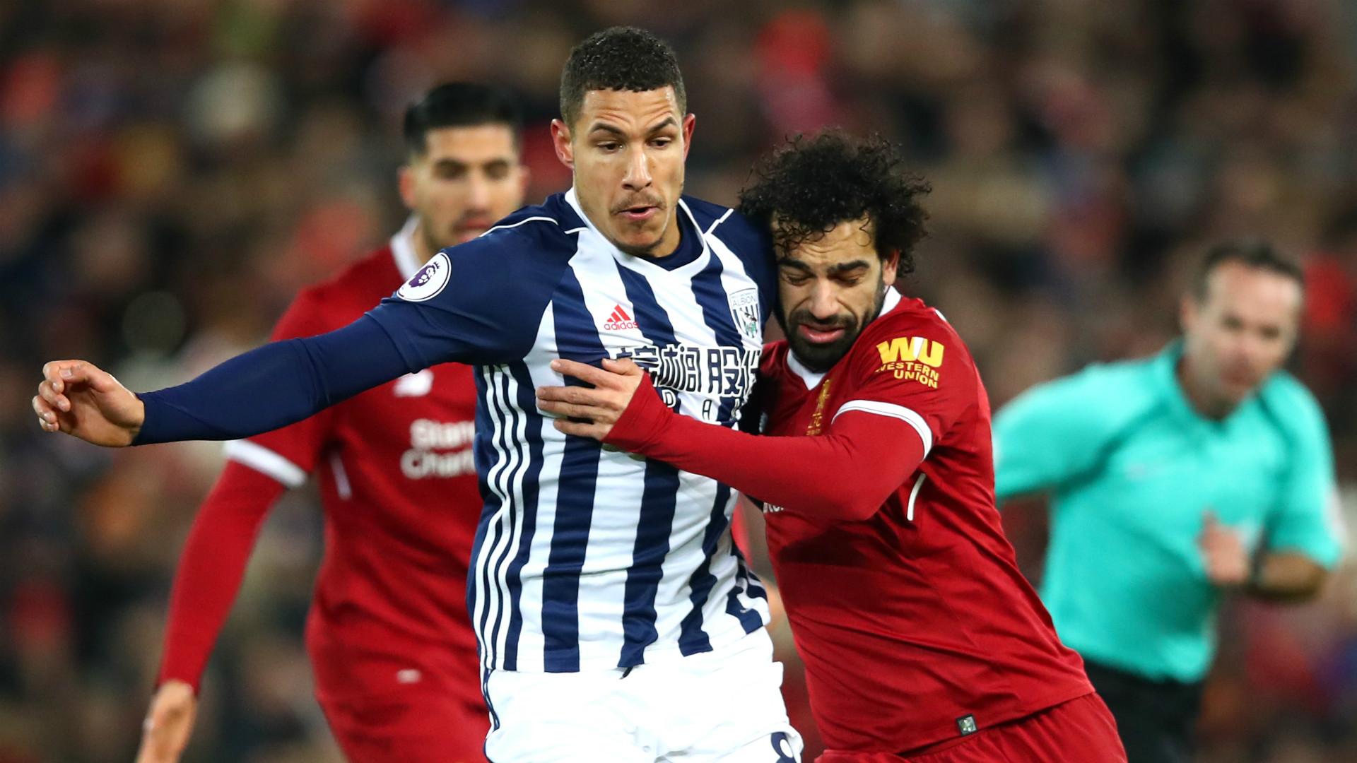 Jake Livermore Mohamed Salah West Brom Liverpool