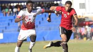 Harambee Stars striker Masoud Juma v Libya.