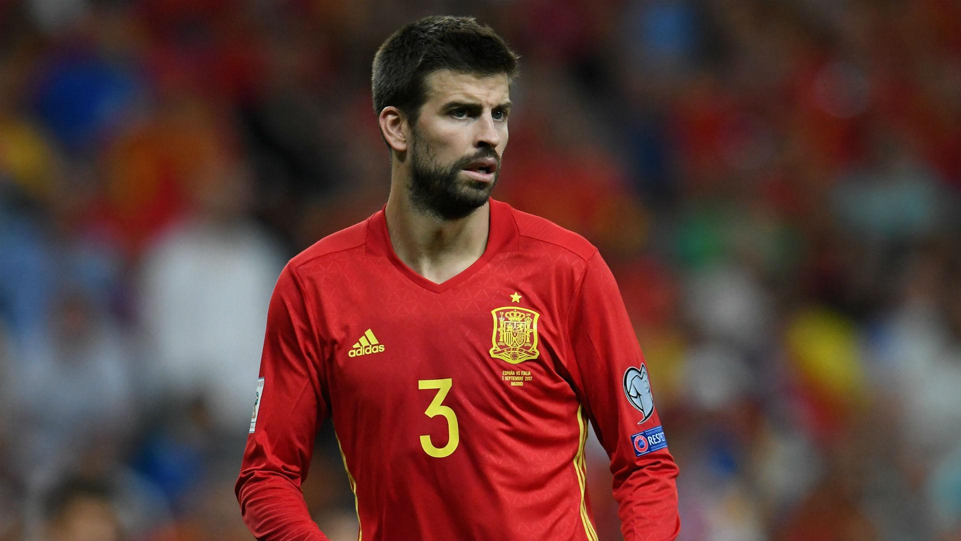 Image result for ปิเก้ประกาศอำลาทีมชาติสเปน