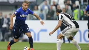 Ciro Immobile Giorgio Chiellini Juventus Lazio Serie A