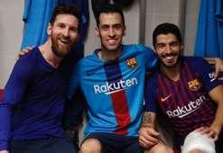 Luis Suarez Messi Busquets Barcelona