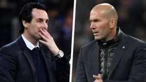 Unai Emery Zinedine Zidane Split