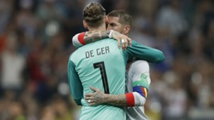 David de Gea Sergio Ramos Spain Portugal World Cup 2018