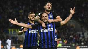 Inter celebrating Inter Fiorentina Serie A