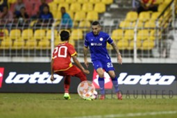 Felda United's Gastón Cellerino playing against Selangor 18/2/2017