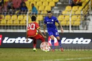 Felda United's Gastón Cellerino playing against Selangor 18/2/2017