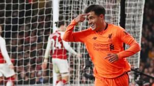 Philippe Coutinho Arsenal Liverpool Premier League 12222017