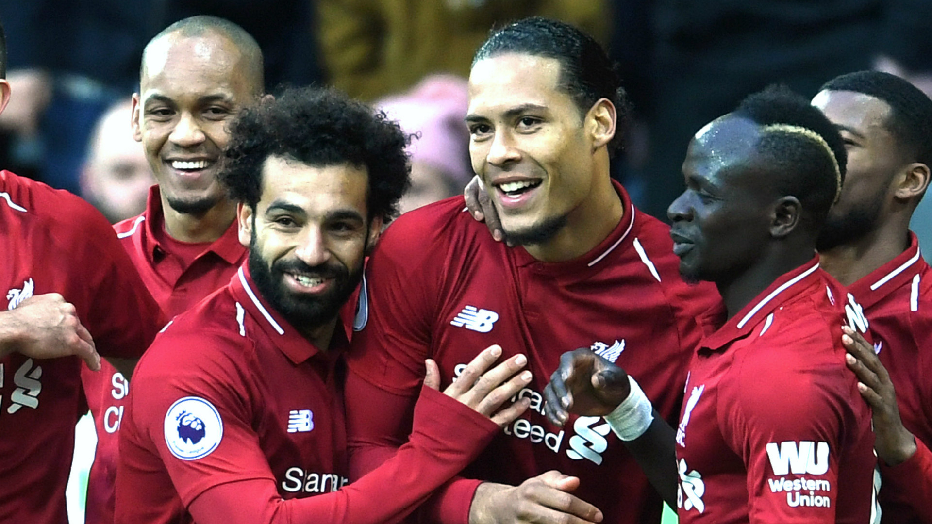 Mohamed Salah Virgil van Dijk Liverpool 2018-19