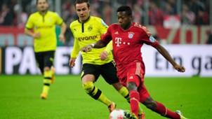 Mario Götze, David Alaba, Borussia Dortmund, Bayern München, 07042017