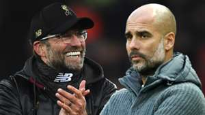 Jurgen Klopp Pep Guardiola Liverpool Man City
