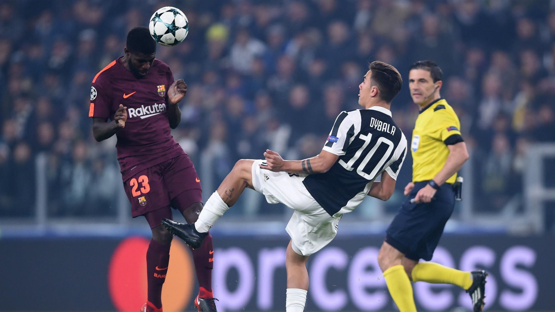Samuel Umtiti Paulo Dybala Juventus Barcelona Champions League