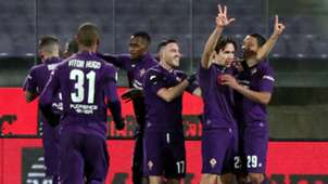 Fiorentina celebrate vs Roma