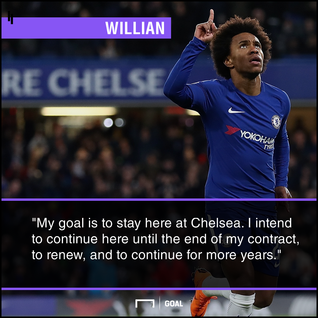 Willian stay at Chelsea