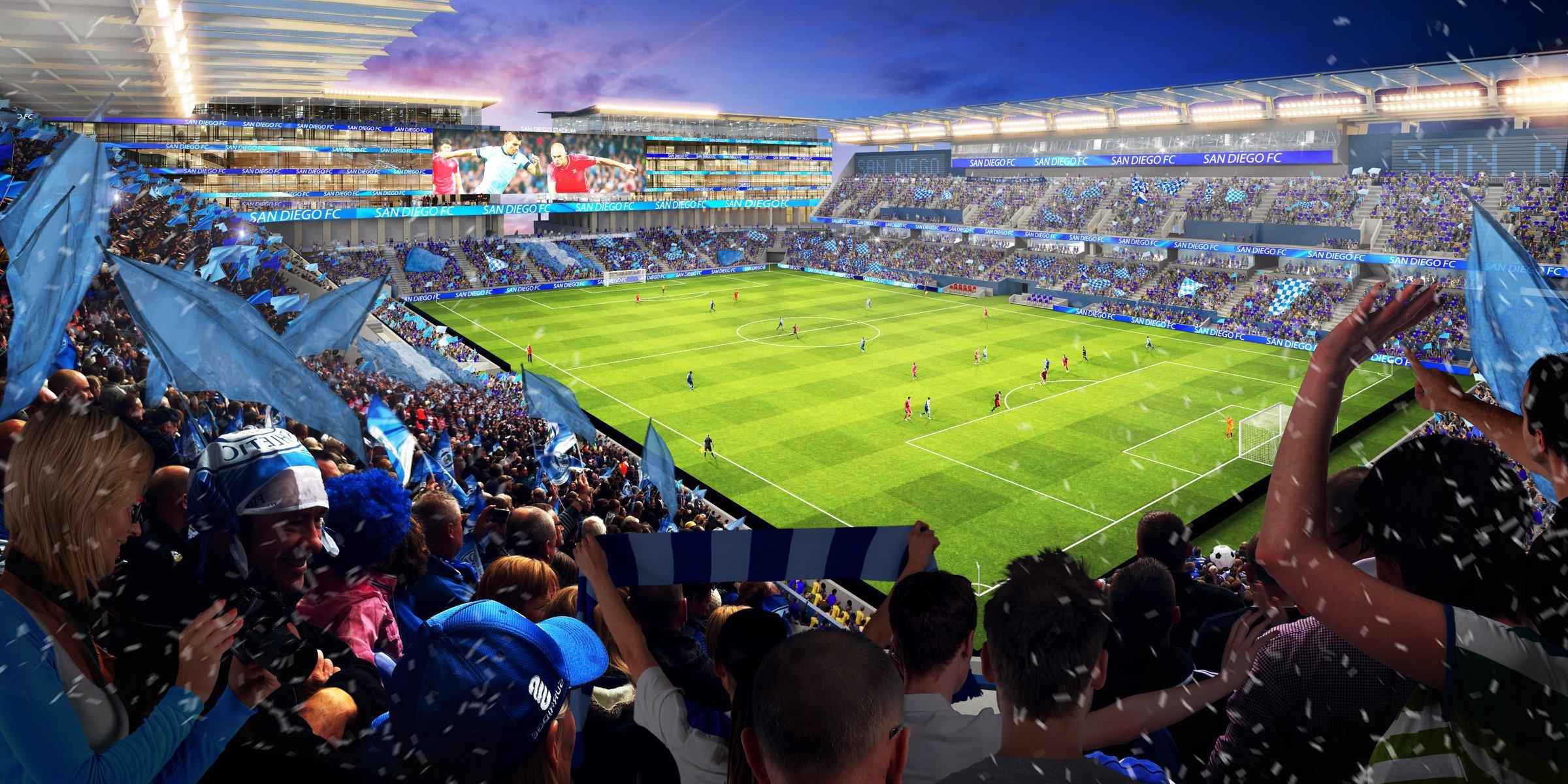 San Diego MLS Expansion Stadium Rendering
