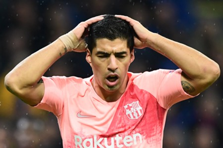 LUIS SUAREZ INTER BARCELONA CHAMPIONS LEAGUE