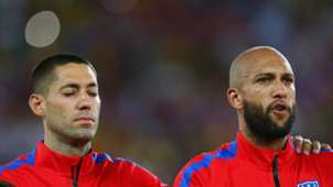 Clint Dempsey Tim Howard USA