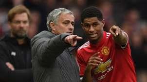 Jose Mourinho Marcus Rashford Manchester United Liverpool Premier League