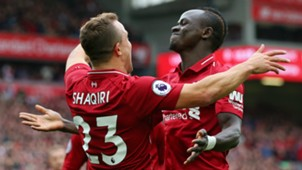 Xherdan Shaqiri Sadio Mane Liverpool 2018-19