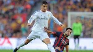 Xavi tackles Ronaldo