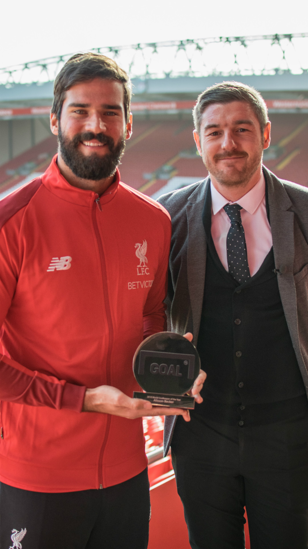 Goal 50 | Alisson with best GK trophy
