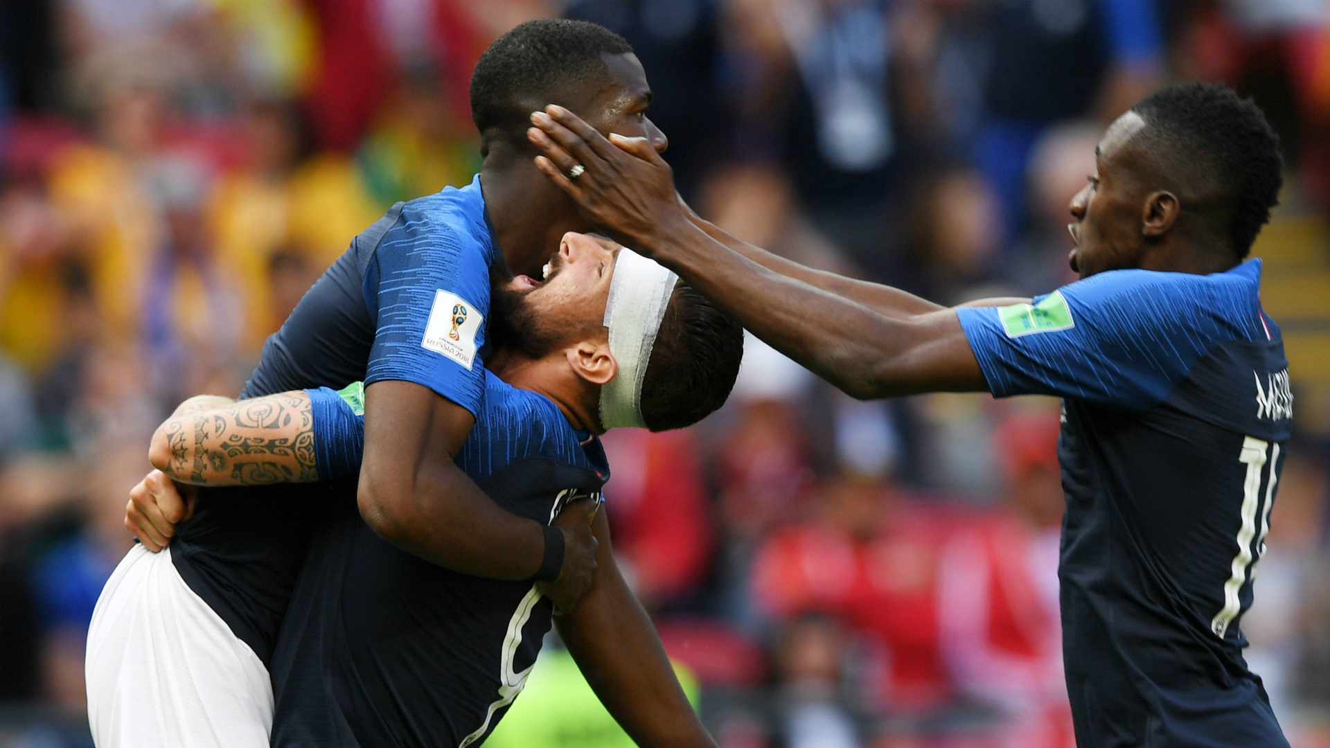 France celebratin Paul Pogba goal France Australia World Cup 2018 16062018