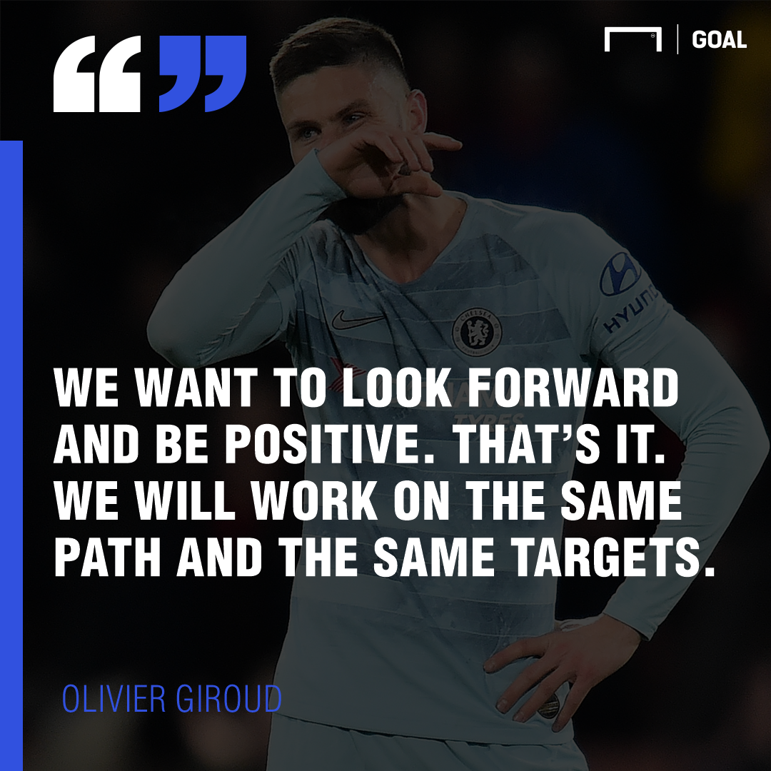 Chelsea players need to stick with Maurizio Sarri ahead of Manchester United, says Olivier Giroud