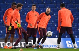 Andres Iniesta training