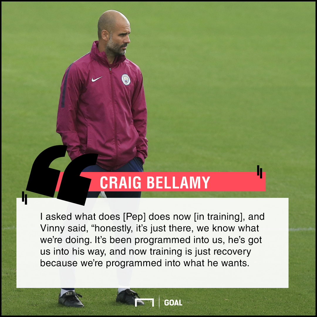 Pep Guardiola quote Craig Bellamy