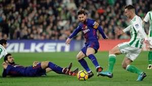 Lionel Messi Sergio Busquets Fabian Ruiz Betis Barcelona LaLiga 21012018