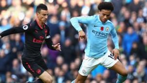 Manchester City Arsenal Sane Koscielny 05112017
