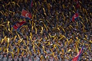 North Korea crowd
