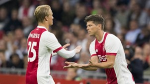 Kasper Dolberg, Klaas Jan Huntelaar, Ajax - Rosenborg, Europa League 08172017