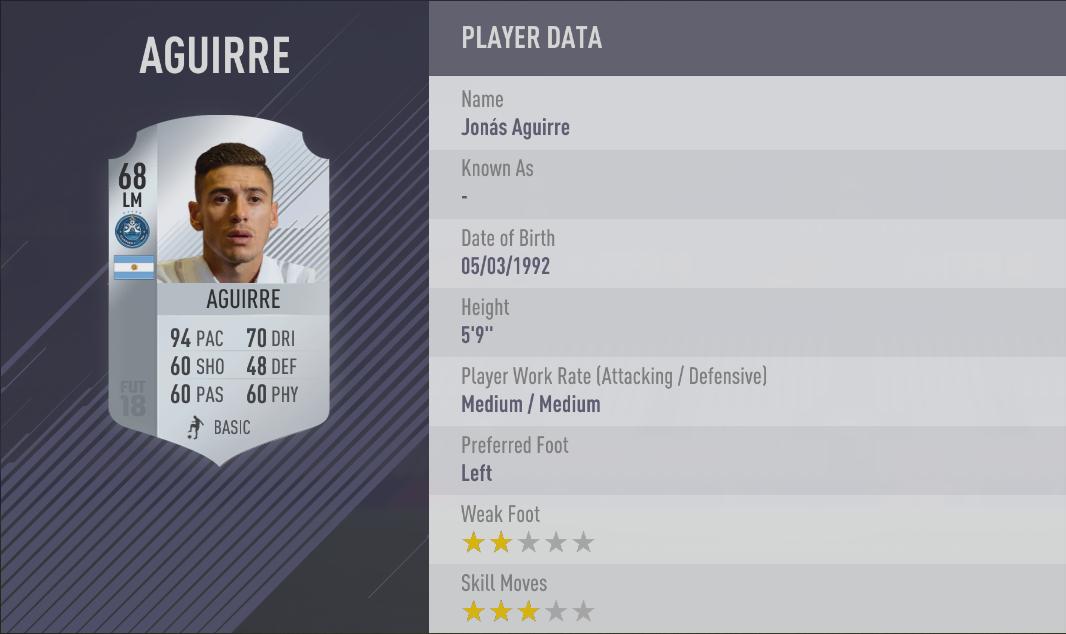 Aguirre FIFA 18