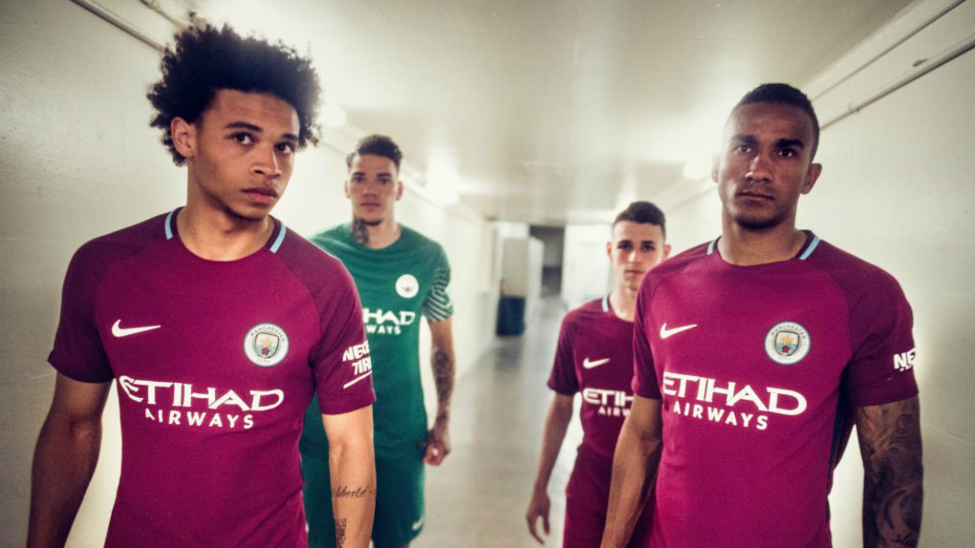 Manchester City away shirt maillot extérieur 2017-2018 1a602019e