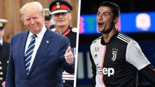 Donald Trump Cristiano Ronaldo composite
