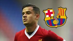Philippe Coutinho broken Barcelona logo GFX
