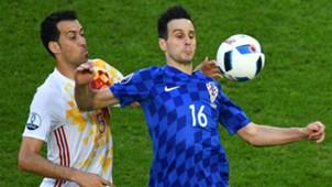 croatia spain - nikola kalinic sergio busquets - euro 2016 - 21062016