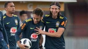 Neymar Filipe Luis Seleção Brasil Tite Brasil Seleção Granja Comary 25 05 2018