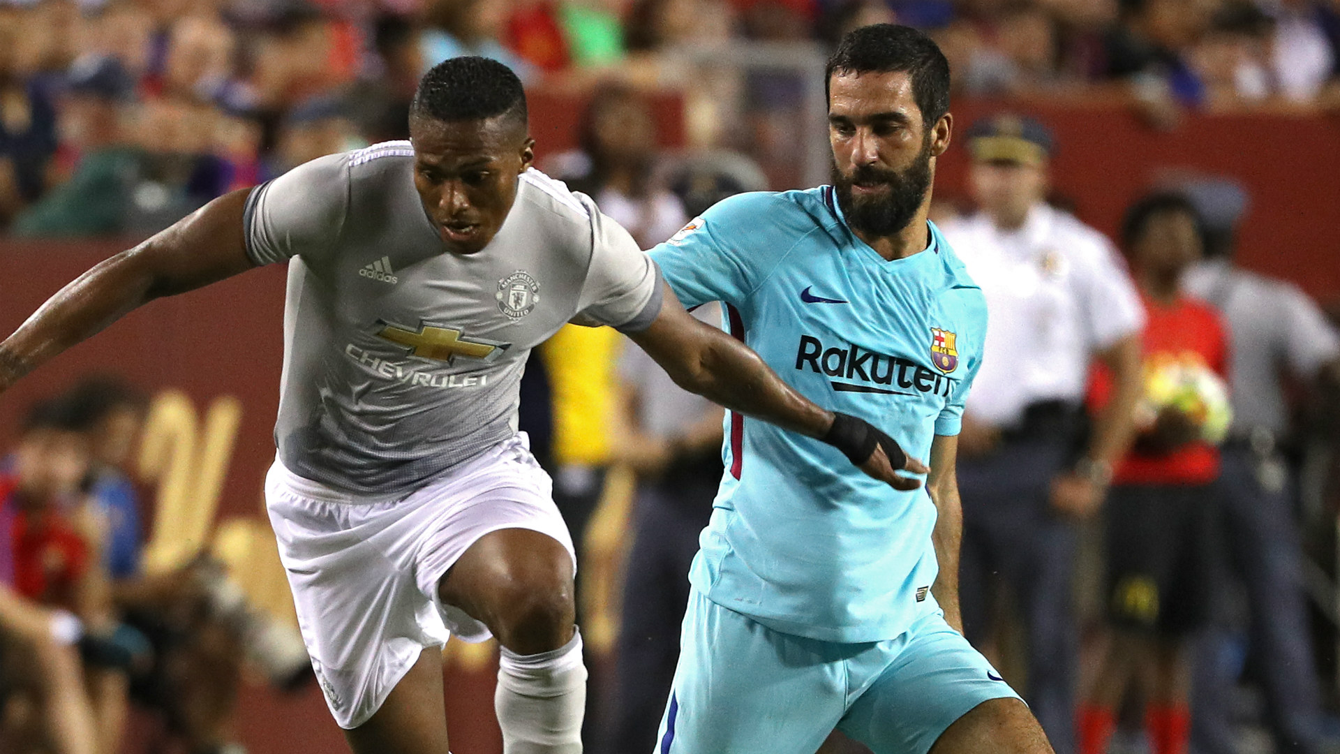 Antonio Valencia Arda Turan Manchester United Barcelona Friendly