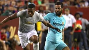 Antonio Valencia Arda Turan Manchester United Barcelona Friendly