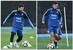 Lionel Messi Paulo Dybala Argentina 06062017